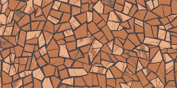 - 600 x 1200 mm (24 x 48 pollici) - rock-mosaic-brown-1